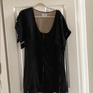 Black cocktail dress. Super flattering